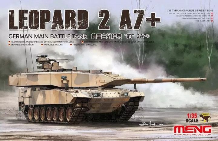 Meng TS-042 German Main Battle Tank Leopard 2A7+