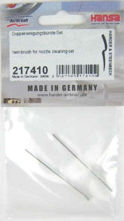 Harder & Steenbeck 217410 Twin-brush for nozzle cleaning-set