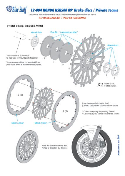 Blue Stuff 12-004 HONDA NSR500 Brake discs