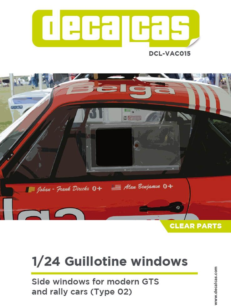 Decalcas VAC015 Guillotine windows for modern GTS and rally cars - Type 02