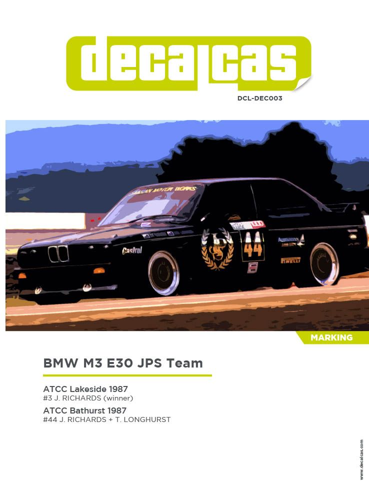 Decalcas DCL-DEC003 BMW M3 E30 JPS Team BMW