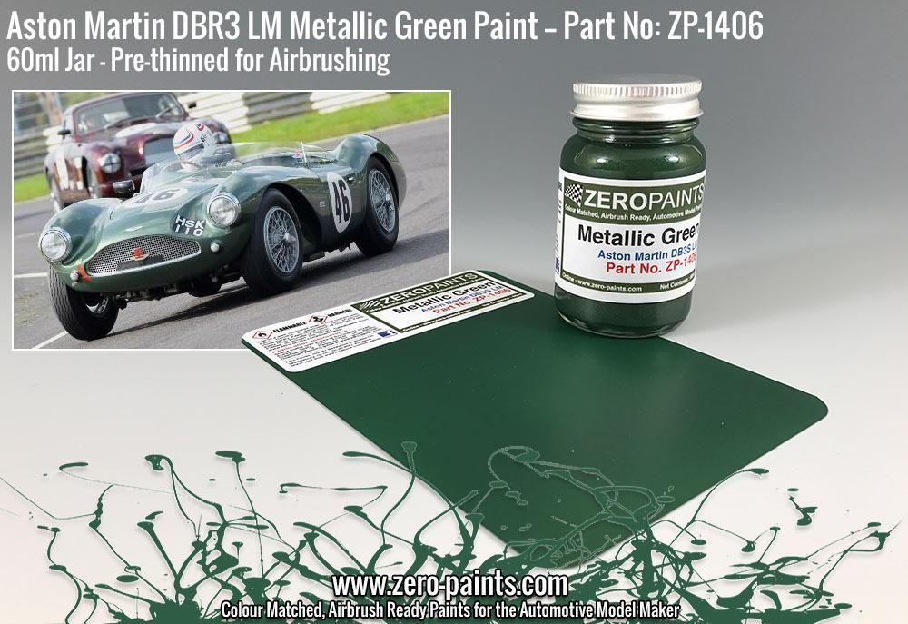 ZERO Paint ZP-1406 Aston Martin DBR3S LM Metallic Green Paint