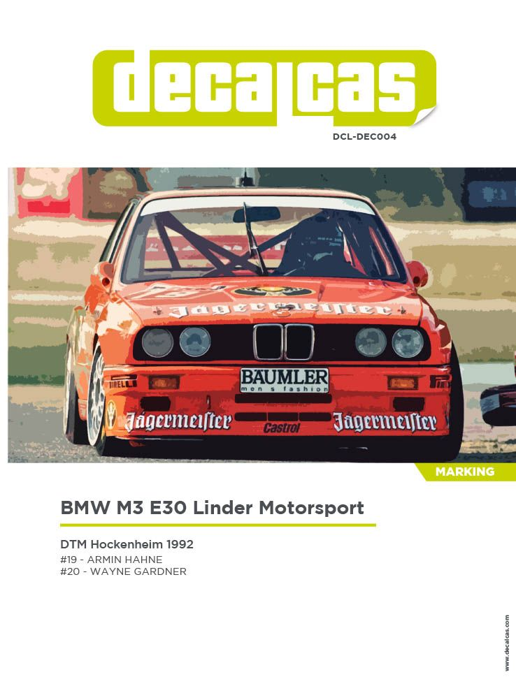 Decalcas DCL-DEC004 BMW M3 E30 - Linder Motorsport