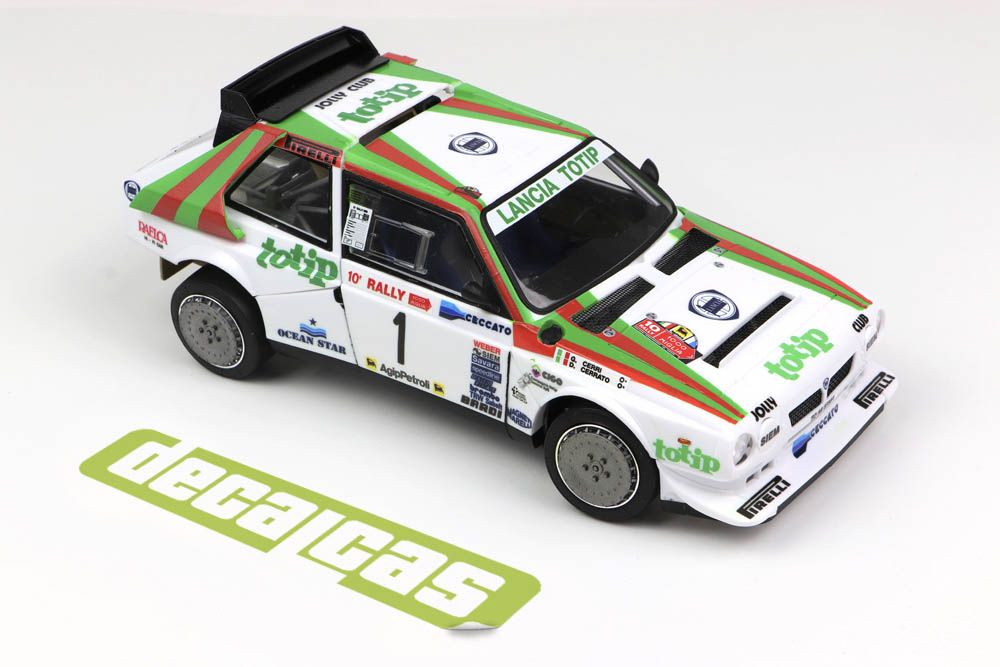 Decalcas DCL-DEC034 Lancia Delta S4 - Jolly Club - 10. Rally 1000 Miglia Brescia 1986 #1 - Dario Cerrato + Giuseppe Cerri