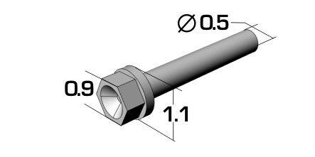 Top Studio TD23224 0.9mm Hex Rivets (A)