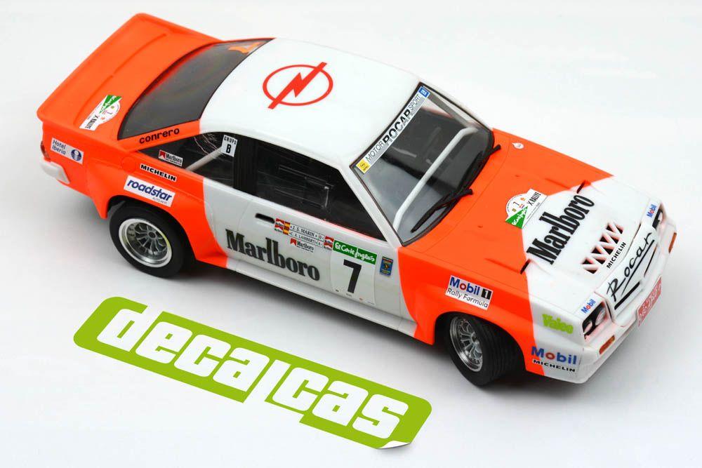 Decalcas DEC018 Opel Manta 400 Group B - Escudería Drago Rallye