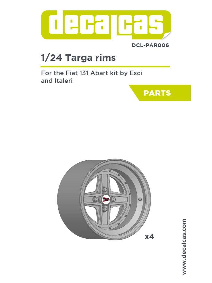 Decalcas DCL-PAR006 Targa rims for Fiat 131 Abarth