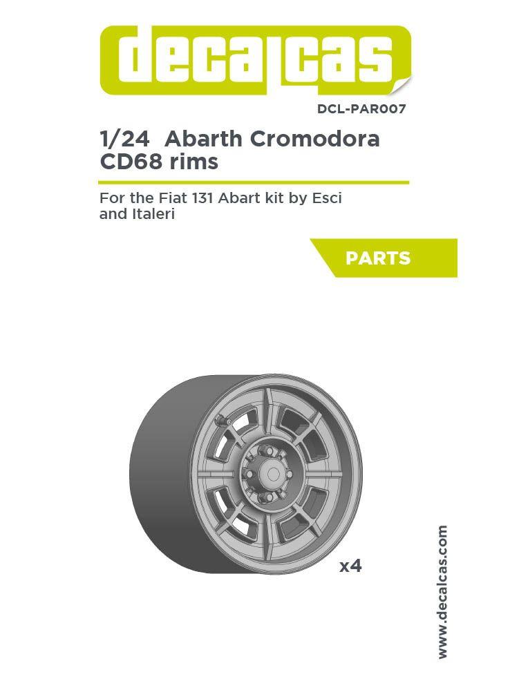 Decalcas DCL-PAR007 Abarth Cromodora CD68 rims for Fiat 131 Abarth