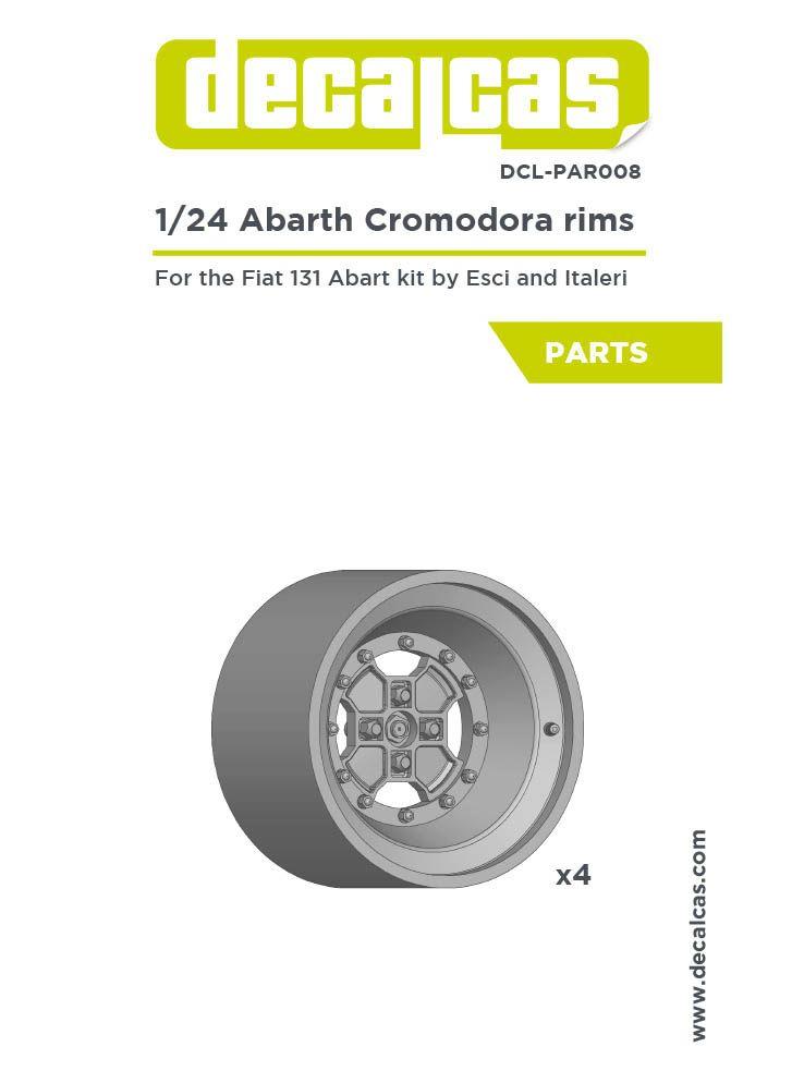 Decalcas DCL-PAR008 Abarth Cromodora rims for Fiat 131 Abarth