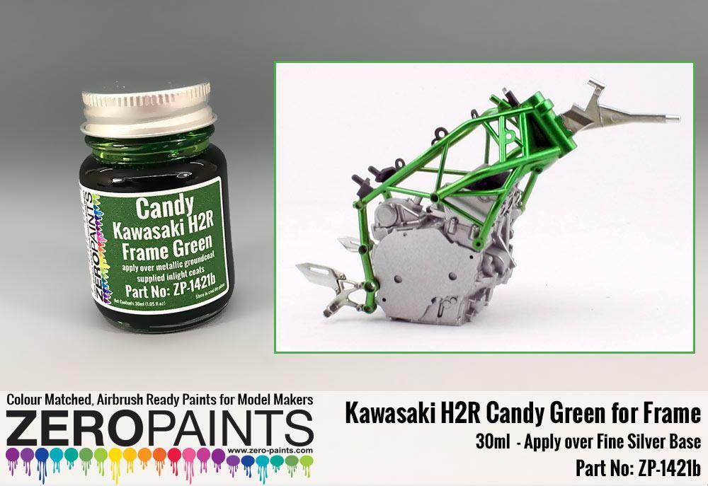 ZERO Paint ZP-1421b Kawasaki H2R Frame Candy Green Paint 30ml