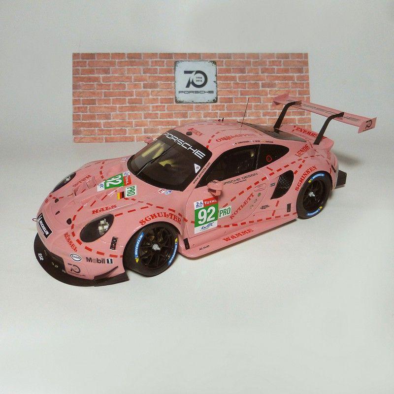 Profil24 P24112K Porsche 911 RSR n°92 1st GT Pro Pink Pig Le Mans 2018