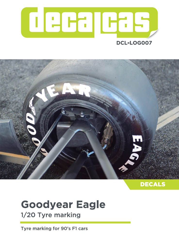 Decalcas DCL-LOG007 - Goodyear Eagle Tyre marking for 90's F1 cars