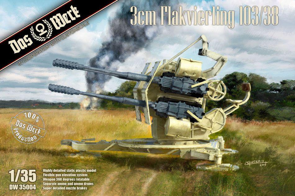 Das Werk DW35004 3cm Flakvierling 103-38
