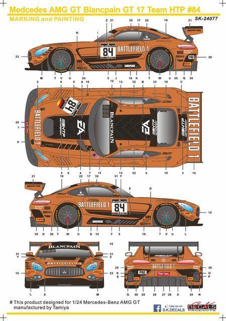 SK Decals SK-24077 Mercedes AMG GT Blancpain GT 17 Team HTP 84