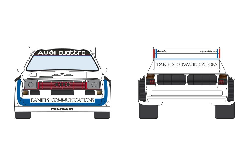 Decalcas DCL-DEC020 Audi Quattro Sport S1 - Pikes Peak International Hill Climb 1986 #1 - Bobby Unser (Winner)