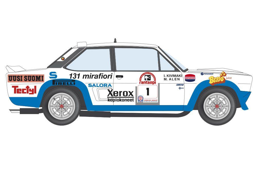 Decalcas DEC027 Fiat 131 Abarth 30. Jyväskylän Suurajot - Rally of the 1000 Lakes 1980 #1 - Markku Alén - Ilkka Kivimäki
