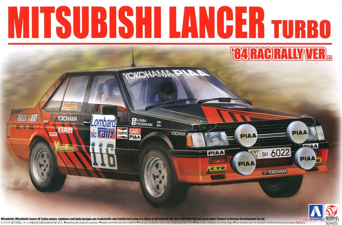 BeeMax B24022 Mitsubishi Lancer Turbo `84 RAC Rally Ver.