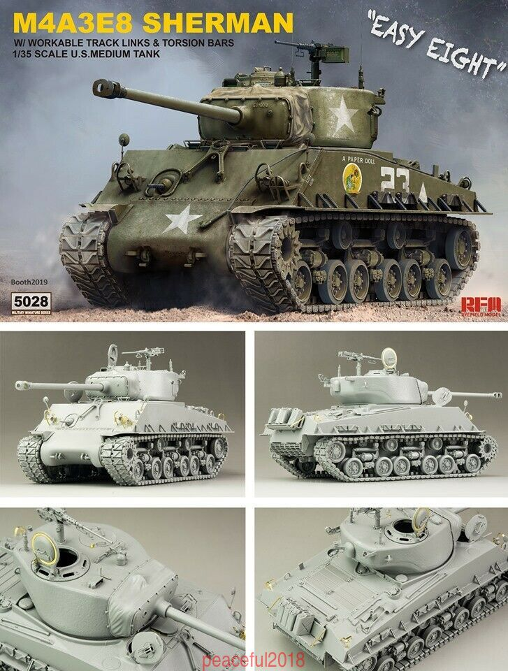 Rye Feild Model 5028 M4A3E8 Sherman Easy Eight