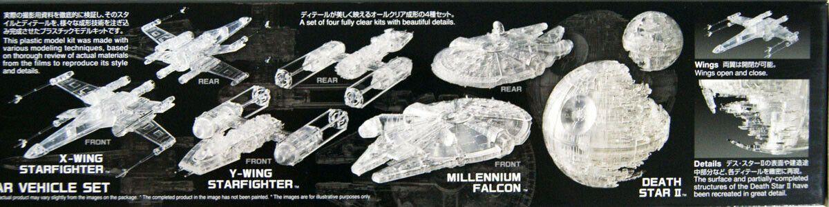 Bandai 5058212 Return of the Jedi Clear Vehicle Set