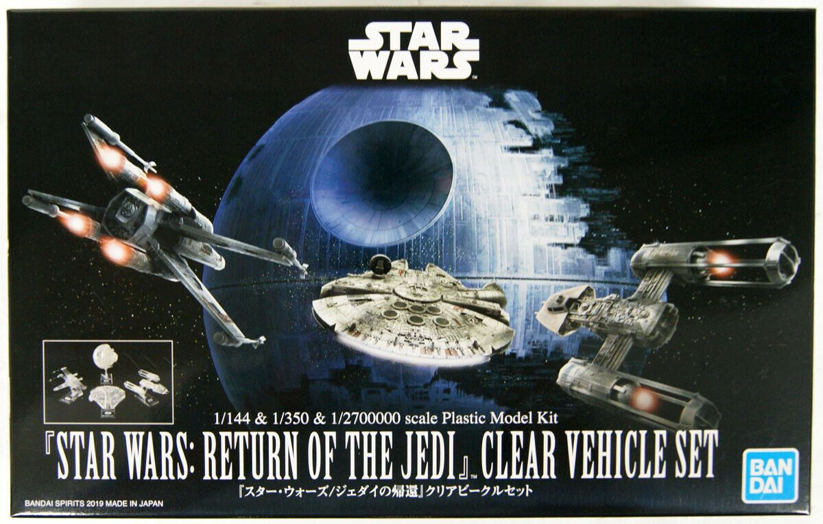 Bandai 5058212 Return of the Jedi Clear Vehicle Set