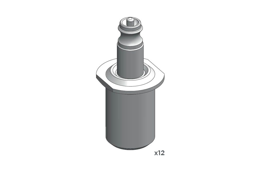 Decalcas PAR011 Air jack connection valve