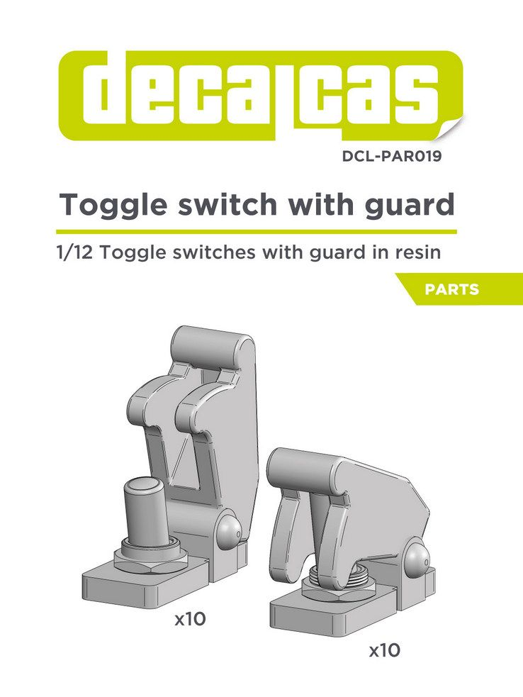 Decalcas PAR019 Toggle switch with guard 1/12