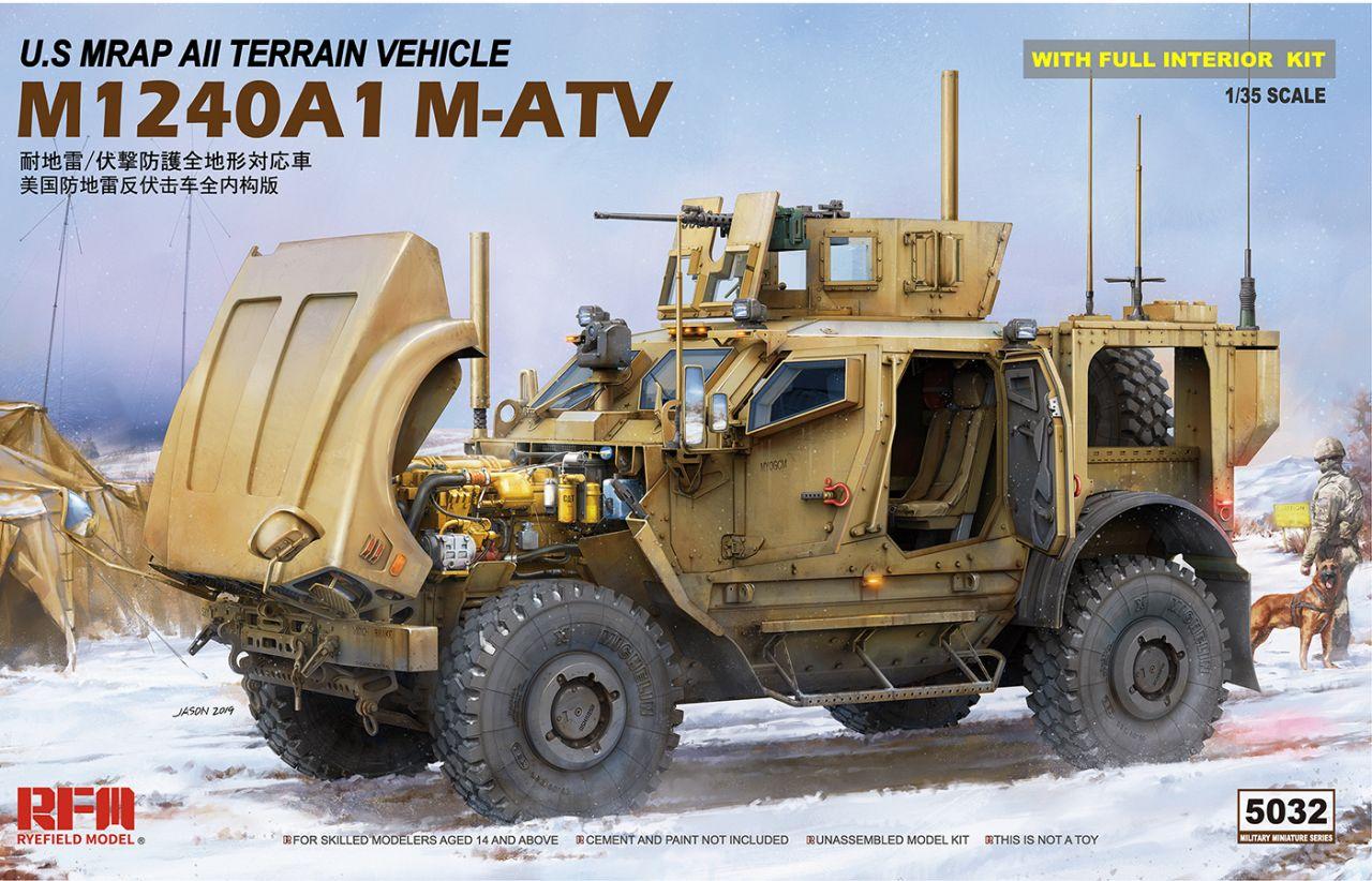 Rye Feild Model 5032 M1240A1 M-ATV with Full interior
