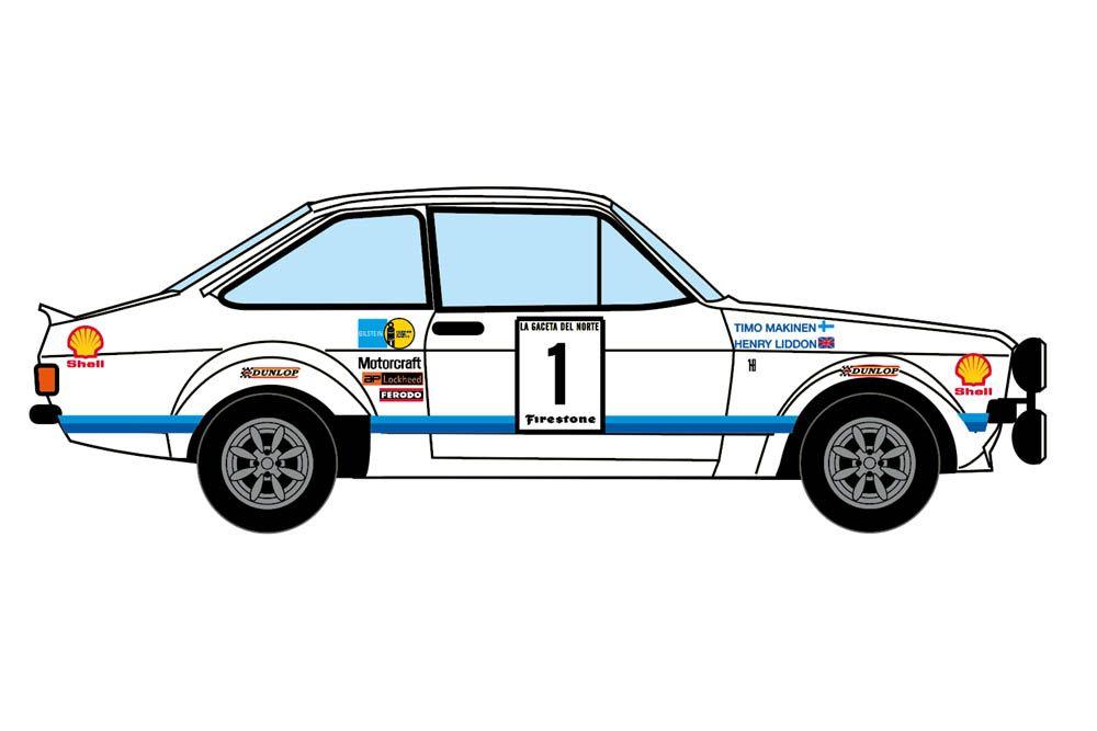 Decalcas DEC031 Ford Escort Mk. II - Rallye Firestone 1976 #1 - Timo Makinen + Henry Liddon (second)