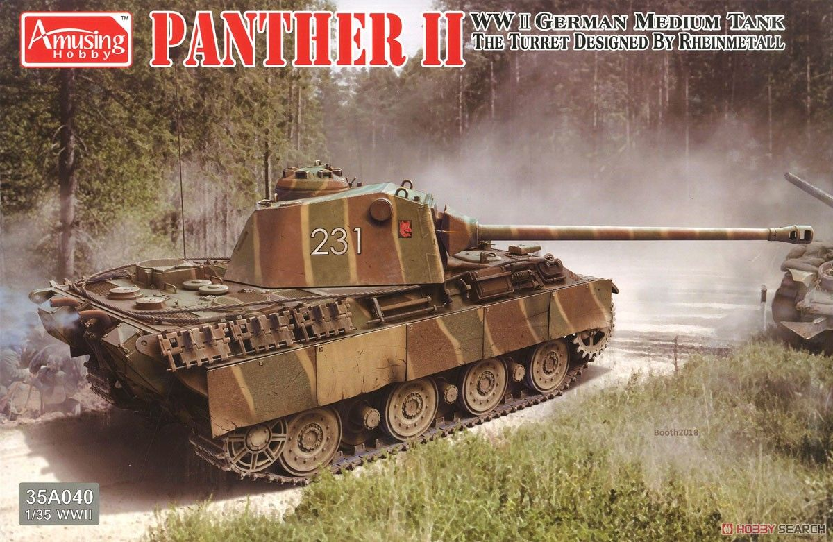 Amusing Hobby 35A040 Panther II The Turret Designed by Rheinmetall