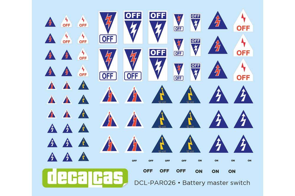 Decalcas PAR026 Battery master switch 1/12