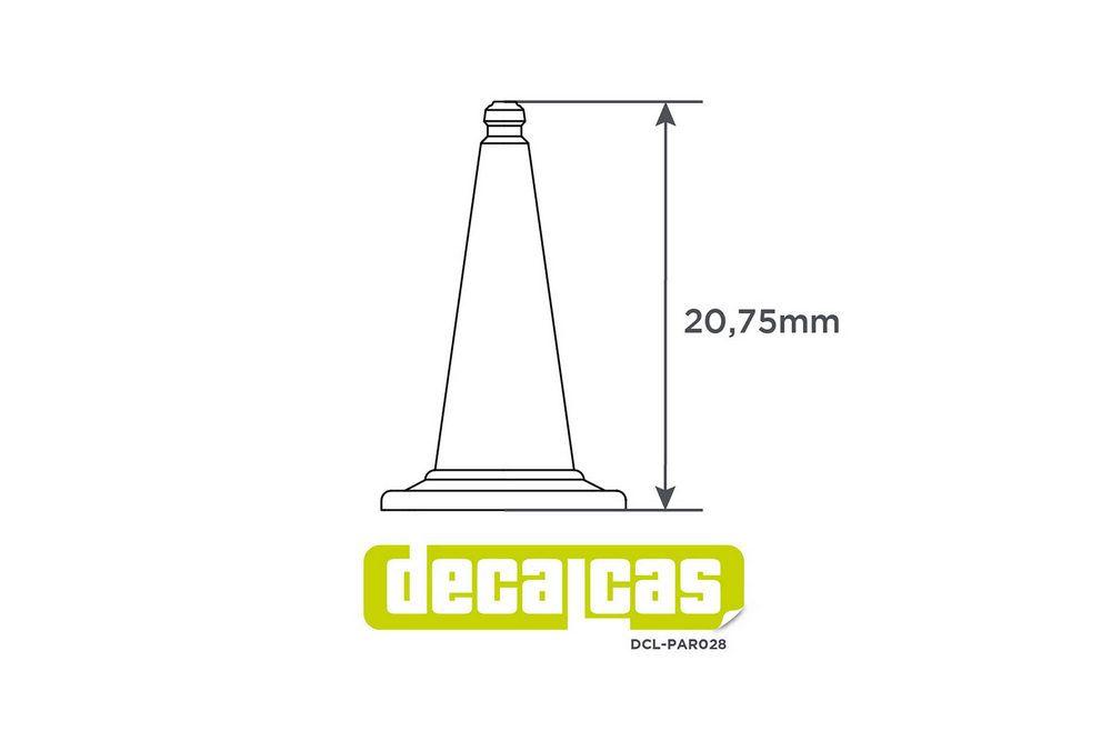 Decalcas PAR028 Traffic cones 1/24