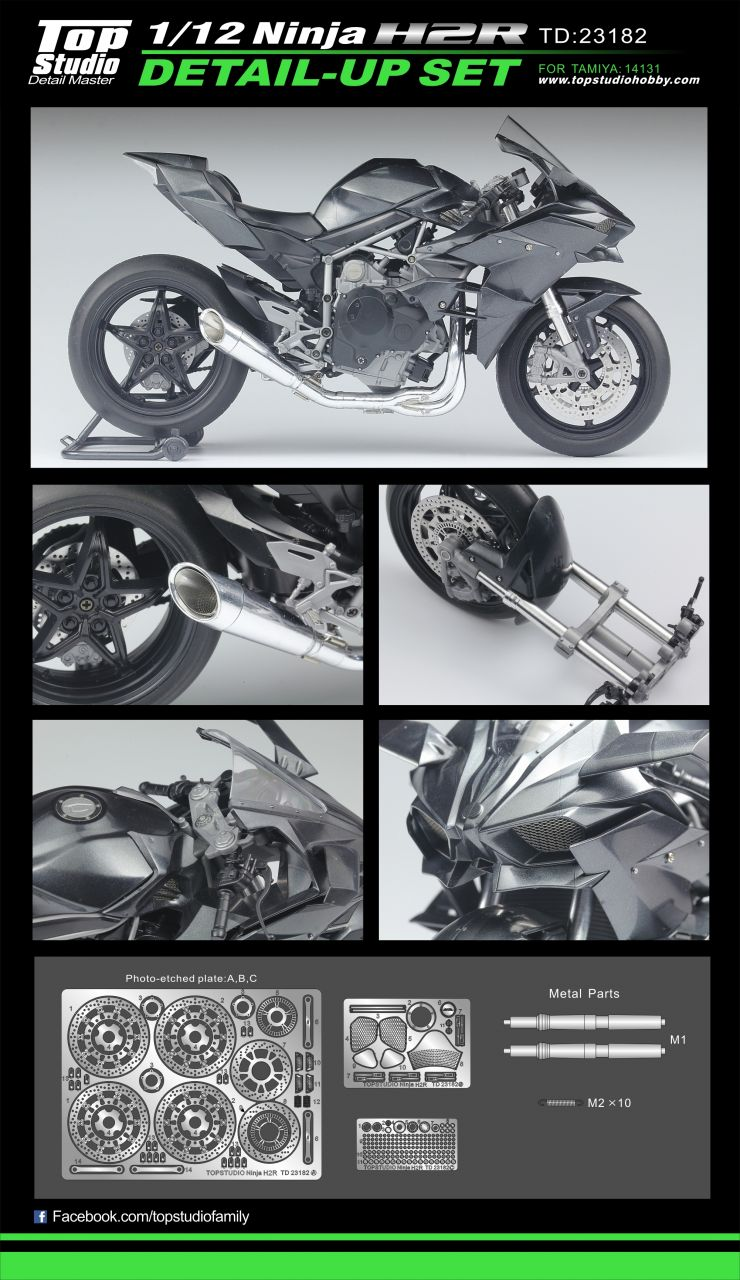 Top Studio TD23182 Ninja H2R Detail-up Set