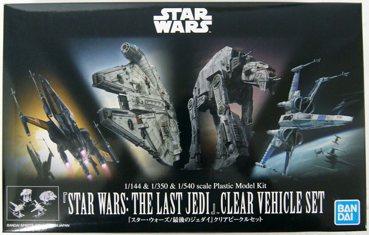 Bandai 5058919 The Last Jedi 1144 & 1350 & 1540 Clear Vehicle Set