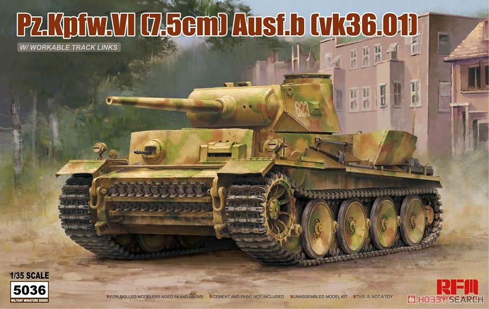 Rye Field Model 5036 Pz.kpfw.Vi (7.5cm) Ausf.b (vk36.01)
