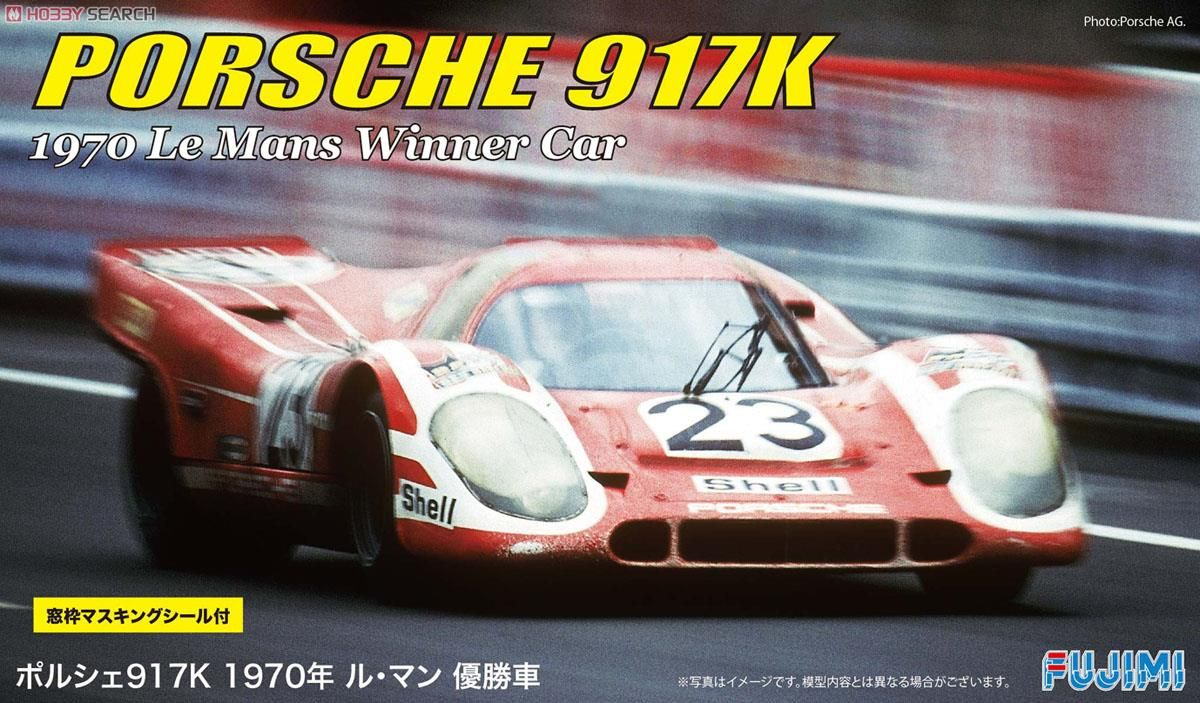 Fujimi 12607 Porsche 917K `70 LeMans Winner with Window Frame Masking