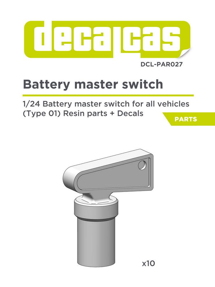 Decalcas PAR027 Battery master switch 1/24, 1/20