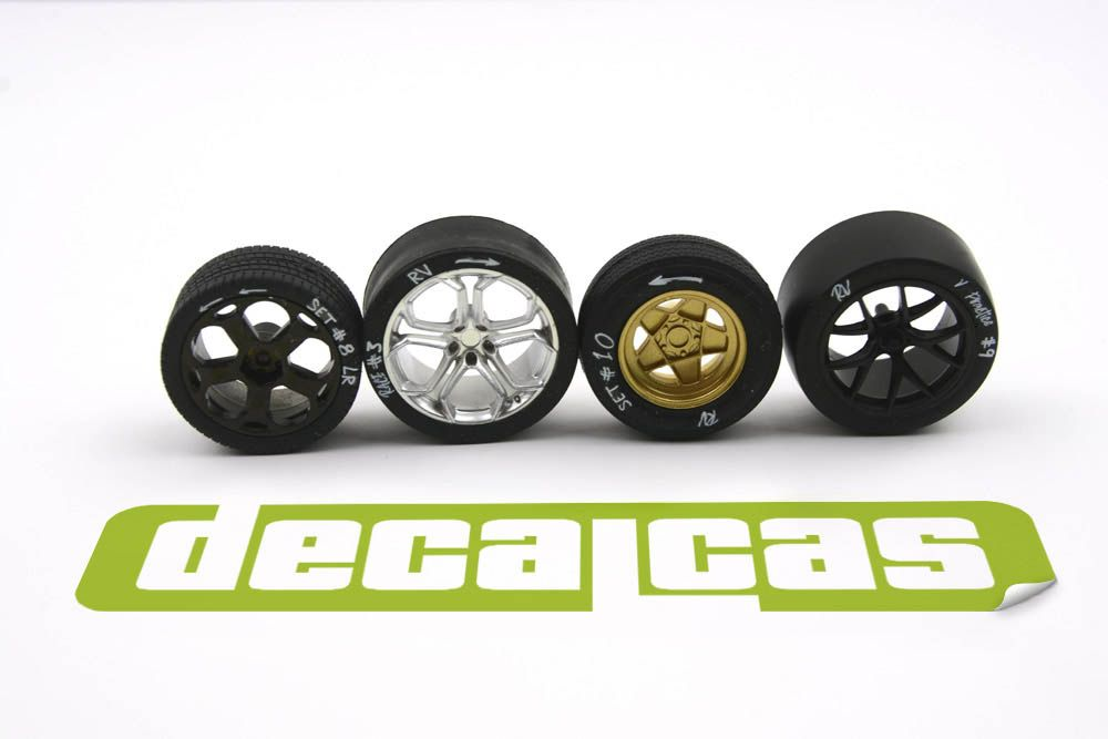 Decalcas LOG008 Tire sidewall white chalk markings 1/24