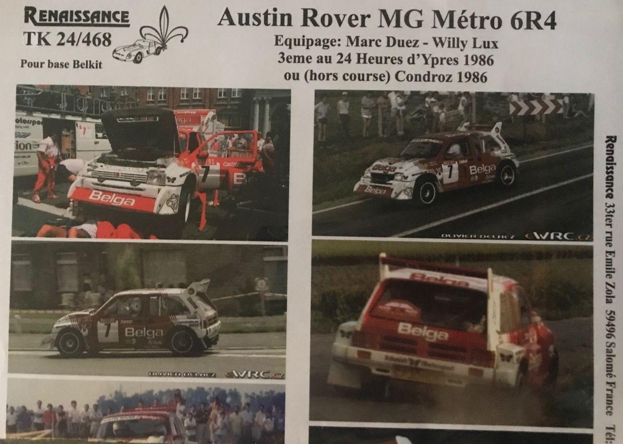 Renaissance TK24-468 Austin Rover MG Metro 6R4 Belga