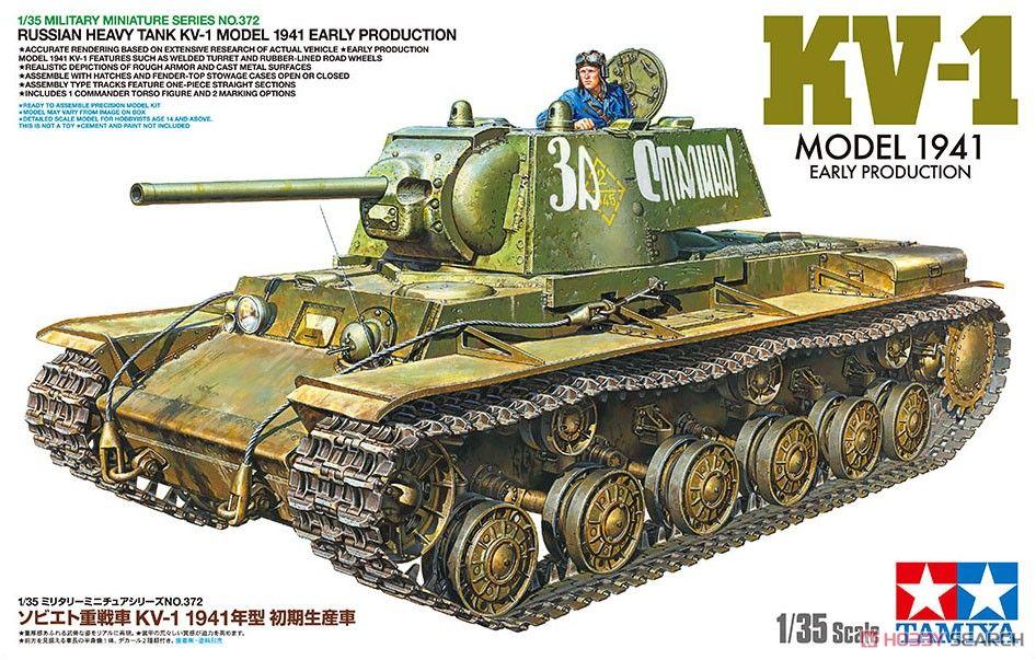 Tamiya 35372 Russian Heavy Tank KV-1 Model 1941 Early Production