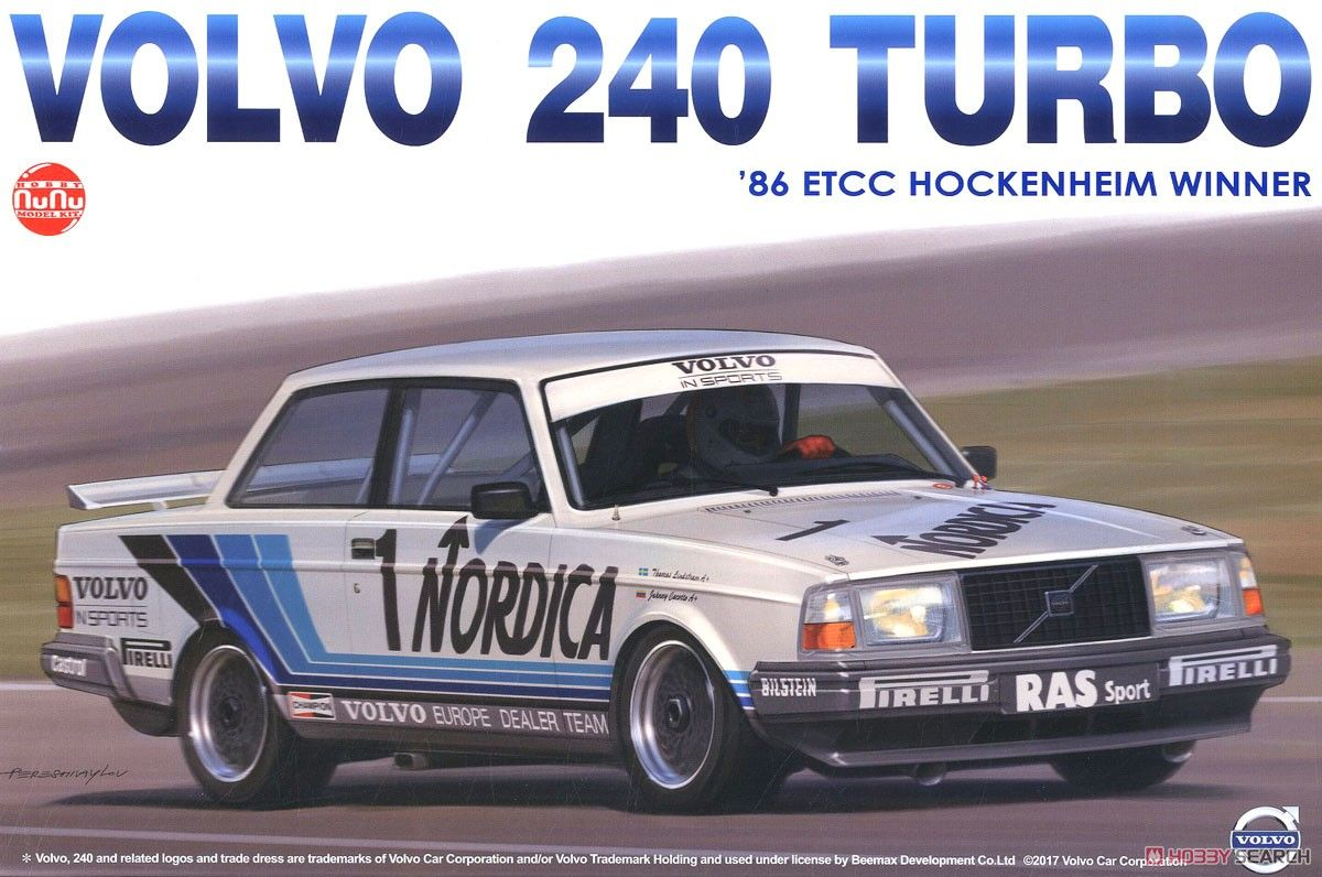 NuNu Model Kit PN24013 Volvo 240 Turbo 1986 ETCC Hockenheim Winner