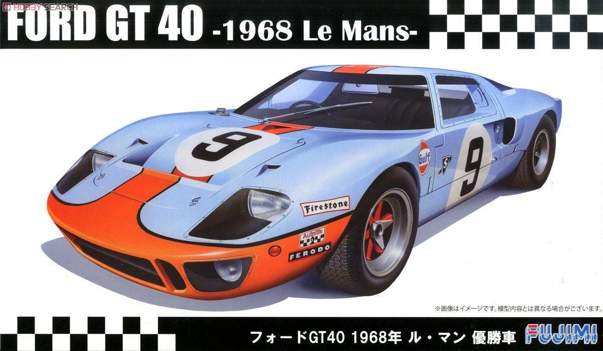 Fujimi 12605 Ford GT40 `68 LeMans Winner