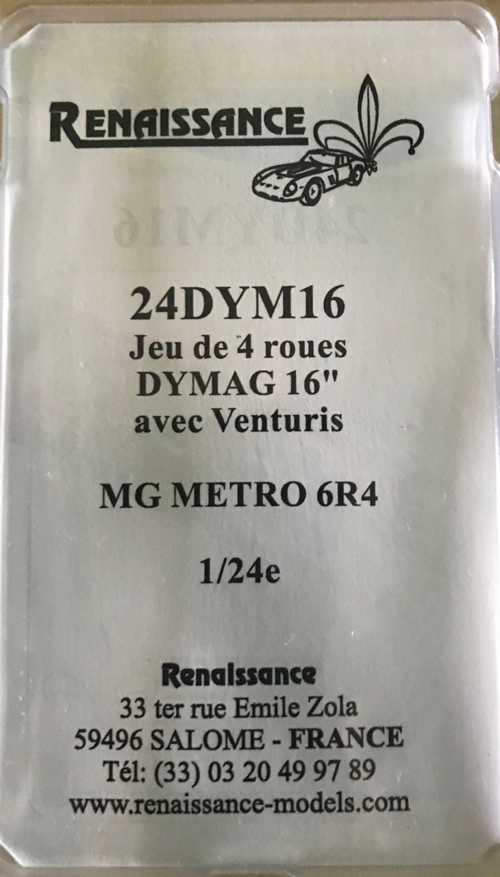 Renaissance 24DYM16 16inch Dymage wheels for MG Metro 6R4