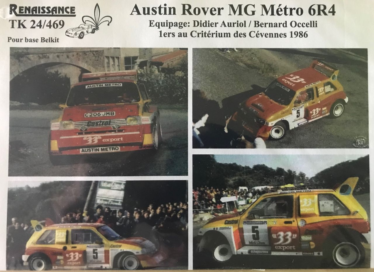 Renaissance TK24-469 Austin Rover MG Metro 6R4 1986