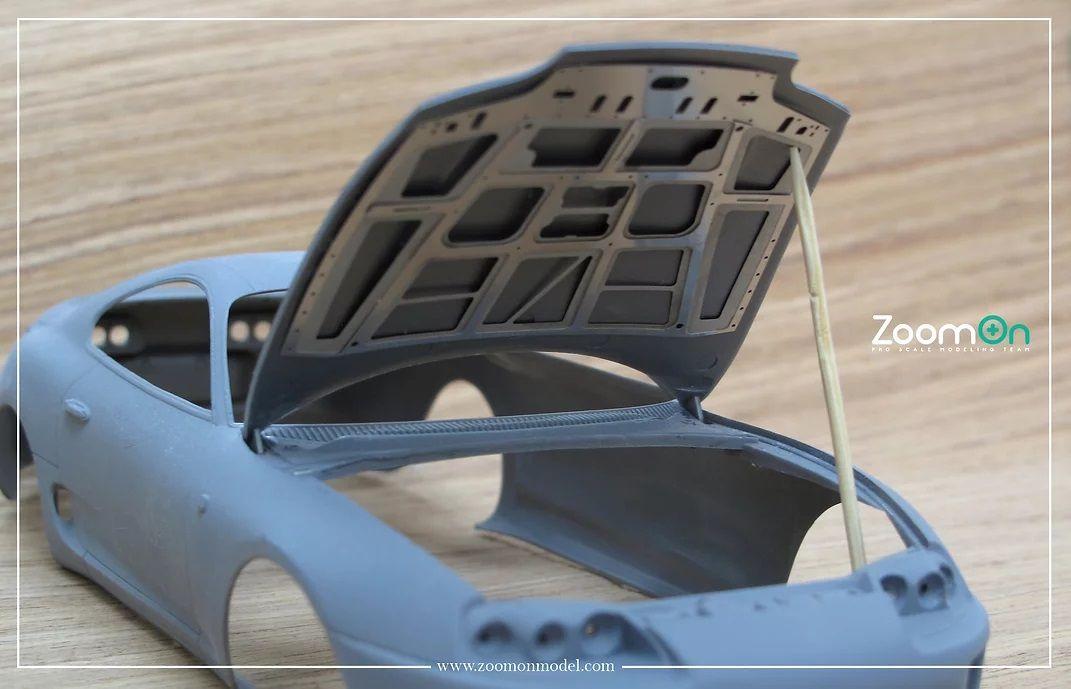 ZoomOn ZD080 Toyota Supra(JZA80) hood structure