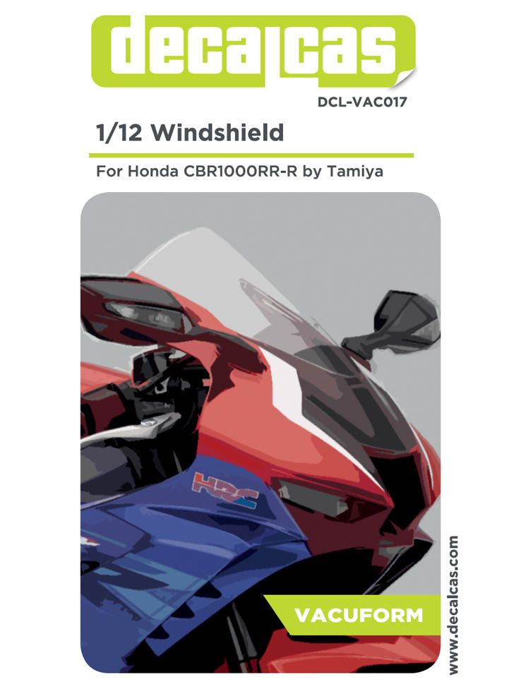 Decalcas DCL-VAC017 Windshield Clear parts Honda CBR1000RR-R