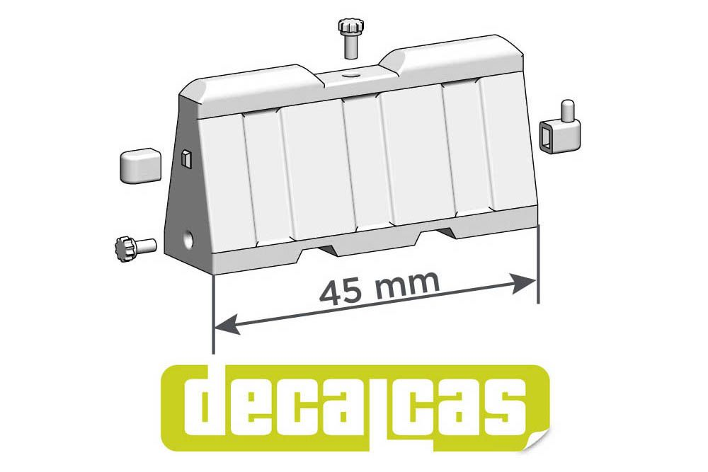 Decalcas PAR029 Plastic traffic barriers (type 01) 1/24