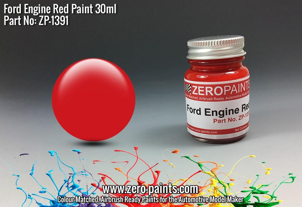 ZERO Paint ZP-1391 Ford USA Red Engine Paint 30ml