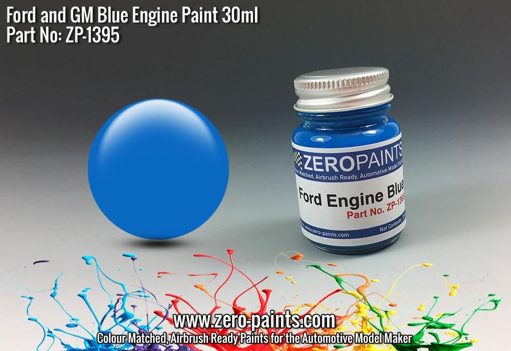ZERO Paint ZP-1395 Ford and GM Blue Engine Paint 30ml