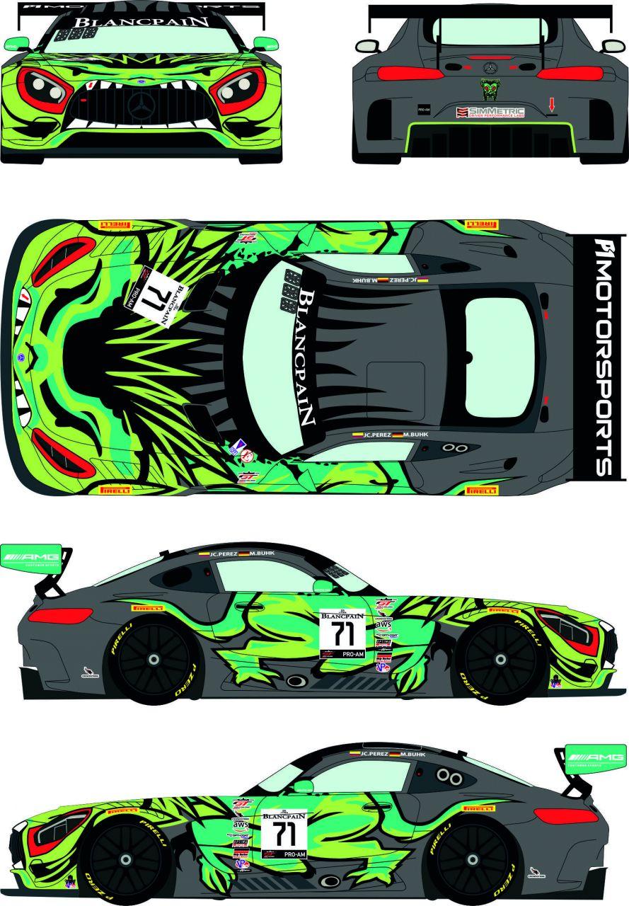Racing Decals 43 RDE24/037 Mercedes AMG GT3 #71 Blancpain World Challenge GT America - Cota 2019