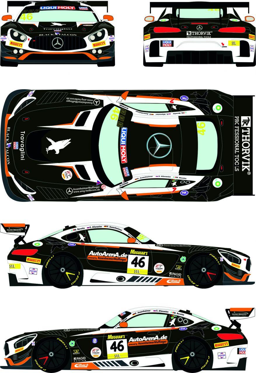 Racing Decals 43 RDE24/039 Mercedes AMG GT3 #46 Liqui Moly 12h of Bathurst 2020